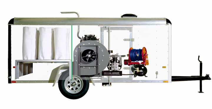 Power Vacuum Trailer Model DS